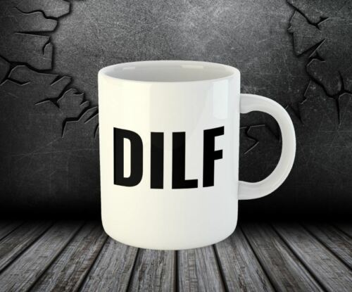 Funny Coffee Mugs DILF New Dad Gift Baby Shower Friend Birthday Cups