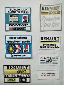 ecusson patch renault sport coupe national elf gordini rallye europa cup alpine