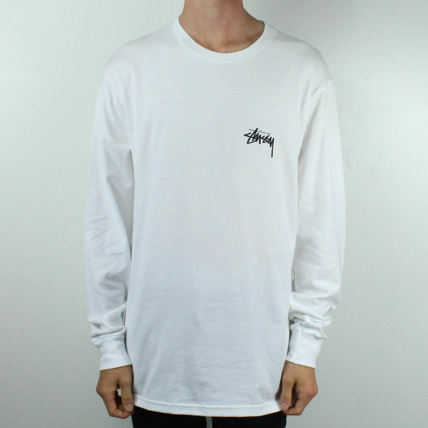 Stussy Wizards Long Sleeve T-Shirt Top Weiß in Größe S,M,L