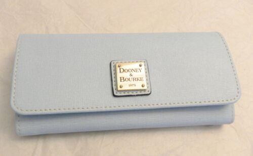 NWT Dooney /& Bourke Leather Envelope Pale Blue Wallet XF255T