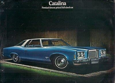 Pontiac Catalina 1974 Usa Market Foldout Sales Brochure Hardtop Coupe Sedan