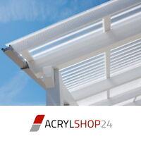 Terrassendach Terrassenüberdachung Acrylglas Profilplatten Klar Bronze Grahphit