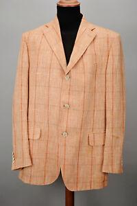 50 al Salvatore Italy Ferragamo lino Realizzato Gr Blazer in cashmere e 54 xn1qRWfww