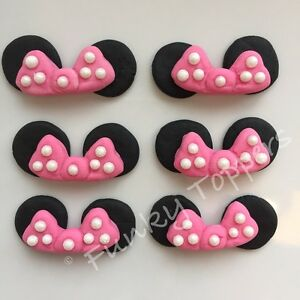 Edible Minnie Mouse Disney Cupcake Cake Decorations Bright ...
