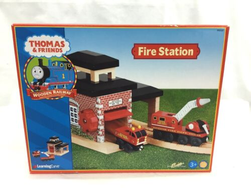 Rare Learning Curve Thomas & Friends Wooden Railway Fire Station New