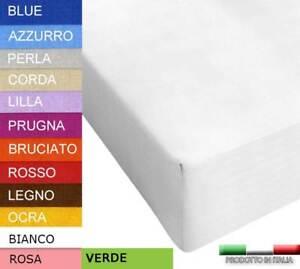 Lenzuolo Sotto 160x190 Cm Misura Speciale Vari Colori 160 190 Cotone Con Angoli Ebay