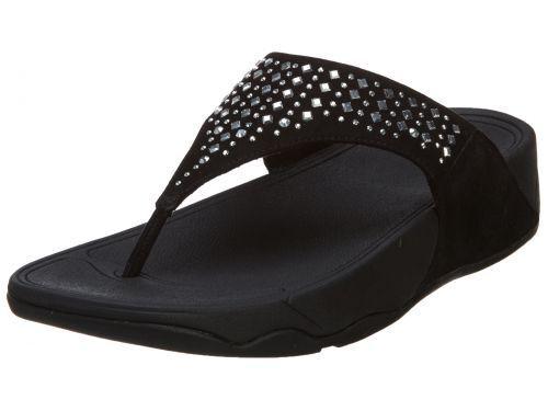 afa015e39099 FitFlop Women s Novy Toe Post Flip Flop Black 7 M US for sale online ...
