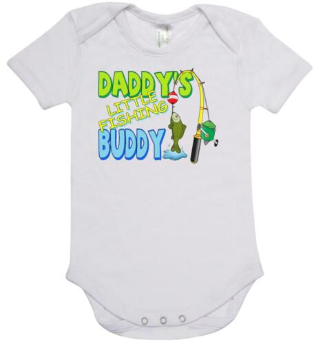 BABY ONE PIECE ROMPER printed with DADDY/'S LITTLE FISHING BUDDY new cotton