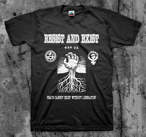 Aus Rotten Shirt Resist And Exist 'Peac...