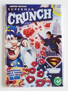 Details about Superman Cereal FRIDGE MAGNET (2 x 3 inches) cap'n crunch  captain box
