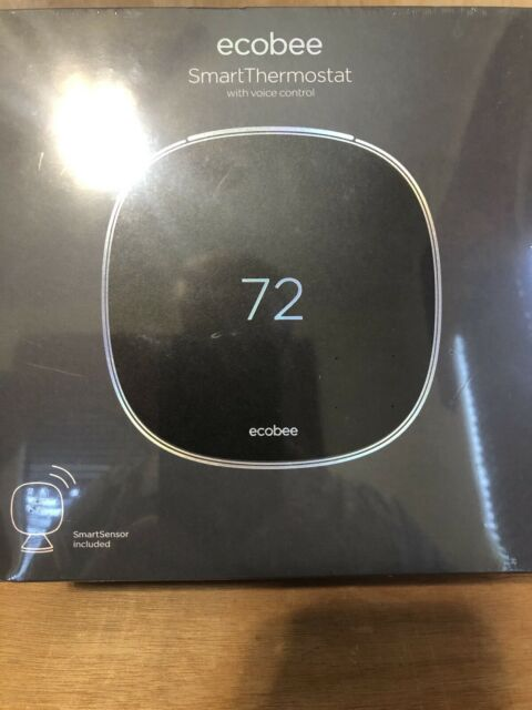 Ecobee EB-STATE5-01 Programmable Smart Thermostat Wi-Fi Voice Control Sensor NEW