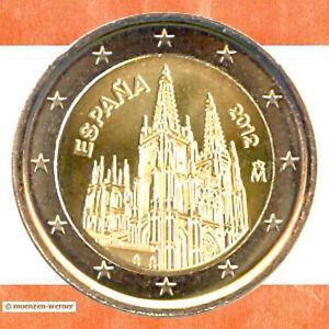 Sondermuenzen-Spanien-2-Euro-Muenze-2012-Burgos-Sondermuenze-zwei-Gedenkmuenze