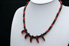Afrika Halskette mit tigerclaw beads aus Böhmen