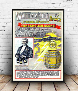 Waltham-Brothers-old-Beer-advertising-Reproduction-poster-Wall-art