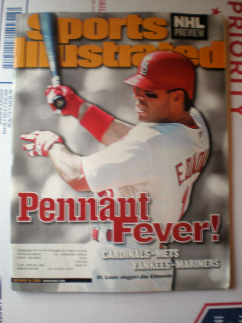 Sports Illustrated Magazine October 16, 2000- Pennant Fever