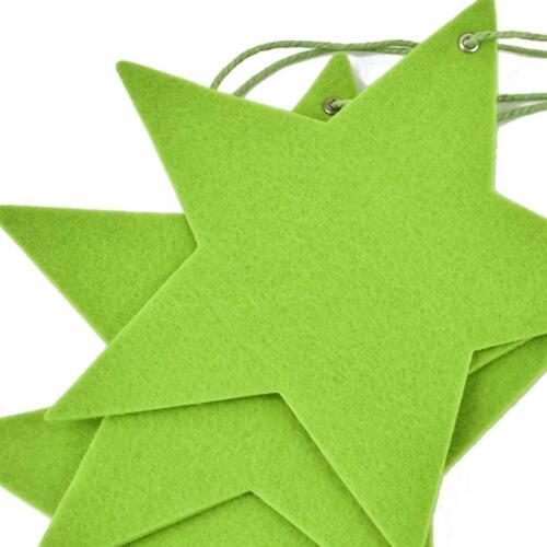 Sterne 4er-Set Filz-Deko 20x20cm grün Xmas Weihnachten Baumschmuck