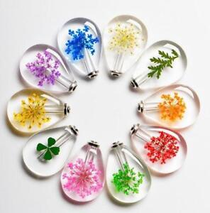 1 GLASS JELLY BEAN BOTTLE candy Pink Crystal Necklace facet screw pendant charm