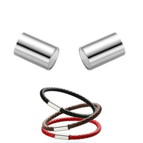 20Pcs Tube Magnetic Clasps Leather Cord End Cap Necklace Bracelet Jewelry Making