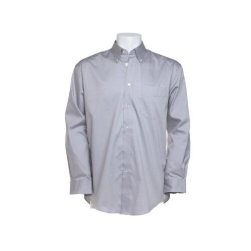 Mens Long Sleeve Oxford Shirt Business Work Smart Formal Casual Dress Shirt
