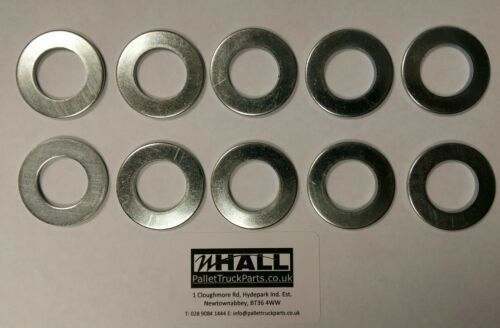 X10 axle Pallet Truck steer wheels// load rollers axle spacers for 17mm Dia