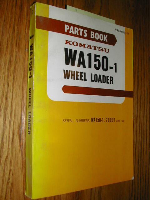 komatsu wa150 1 parts manual book catalog wheel loader pepb04170101 rh ebay com Komatsu Parts Breakdown Komatsu PC 55 MR3 Parts Manual