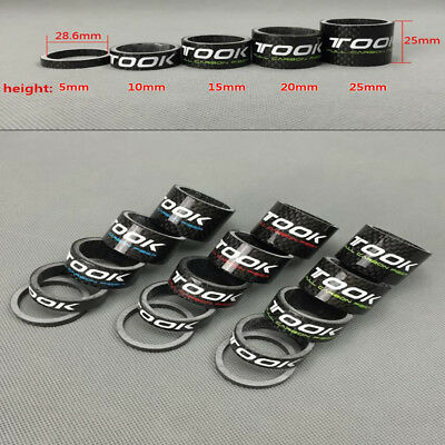 """CNC HEADSET SPACERS 1 1//8/"""" 28.6mm BICYCLE BIKE LIGHT ALLOY 5 10 15 20 FIXIE MTB"""