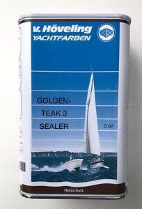 1L Hartholzöl Höveling D 07 Golden Teak 3 Sealer Teaköl für Boote u. Gartenmöbel