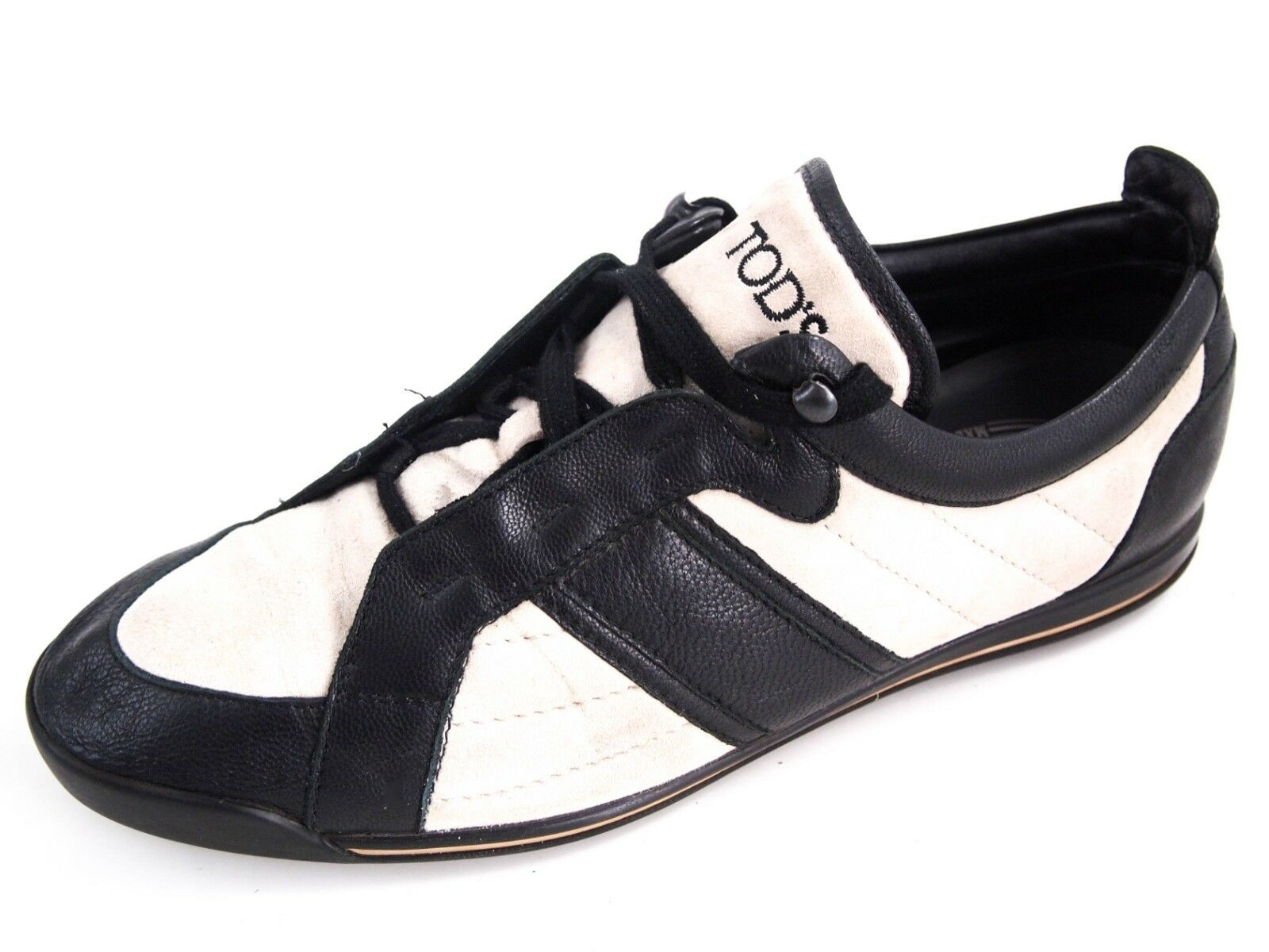 TOD's fashion sneakers, black leather , women's shoe size EU 39 US 9  580