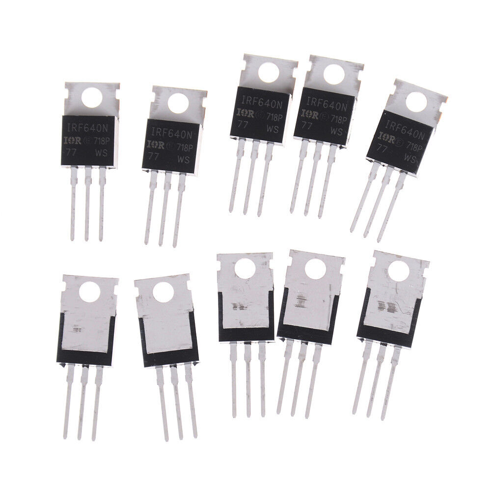 10PCS New IRF640 IRF640N Power mosfet 18A 200V ST-220 QE