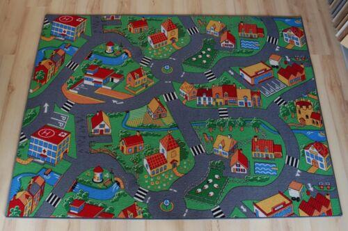 Straßenteppich Spielteppich Bauernhof 200x220 cm