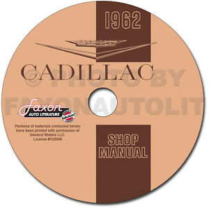1962 cadillac repair shop manual cd deville eldorado 62 fleetwood 60image is loading 1962 cadillac repair shop manual cd deville eldorado