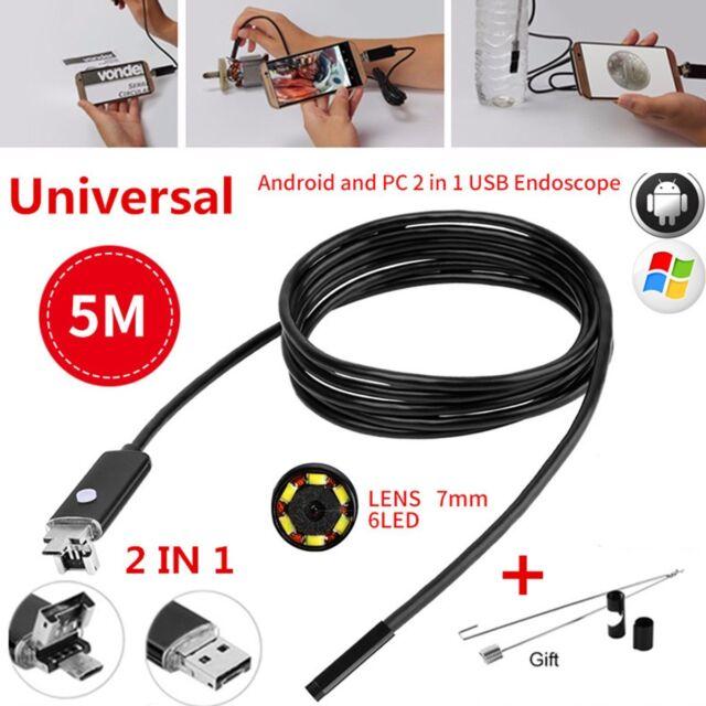 Android OTG UVC USB Borescope Endoscope Camera Waterproof Snake Tube ...