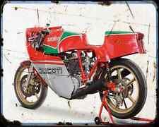 Ducati 860 Ncr Corsa 2 A4 Photo Print Motorbike Vintage Aged