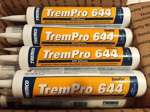 Details about 10 1 oz TremPro 644 RTV Silicone Clear 12 tubes Free Shipping