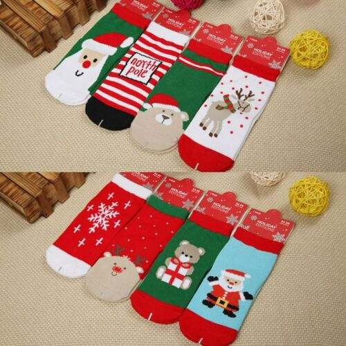 Christmas Baby Kids Toddler Winter Warm Socks Floor Thick Cotton Socks Age 1-5