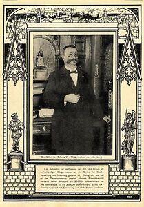 Dr.Ritter von Schuh Oberbürgermeister von Nürnberg Historische Aufnahme von 1902