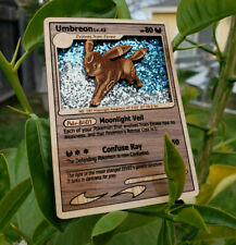 Umbreon Gold Star Eeveelution Wooden Pokemon Card Holo Pokemon Gift Wood
