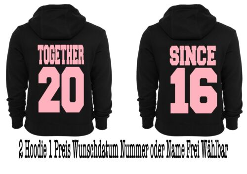 Together since Hoodie Pullover 2 pezzi partner look Hipster relationship XS 5xl