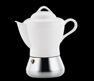 D-039-Ancap-Espressokocher-Porzellan-Keramik-Edelstahl-034-Nicole-034-4-Tassen-aus-Italien