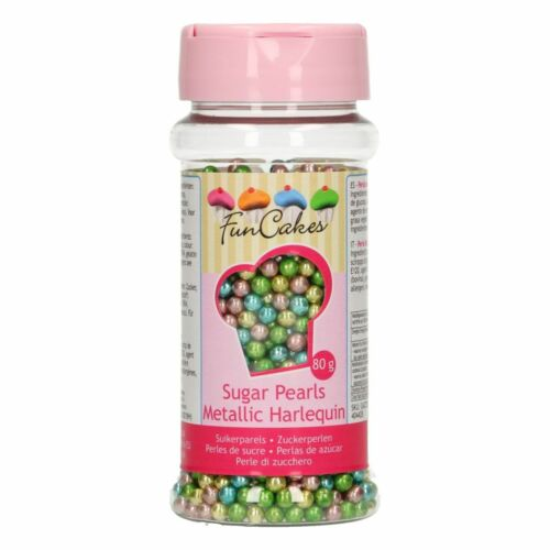 Regenbogen Einhorn Mix Zuckerperlen Meatlic Streudekor 80 g Perlen Zuckerdeko