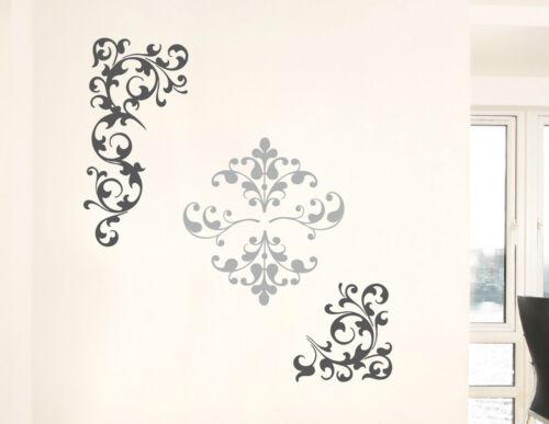 Xxl mural set 6 pièces baroque espace DECO MUR DECO Adhésive sticker la fresque NEUF