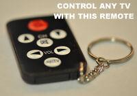 Small Universal Tv Television Remote Control Tiny Small Pocket Size No Code