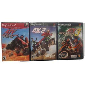 ATV Offroad Fury 1 2 3  Bundle Lot Playstation 2 PS2 Quad Power Racing off road
