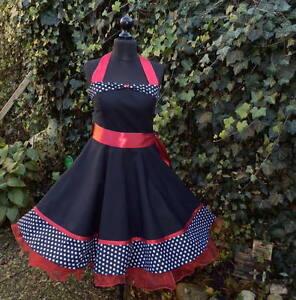 368cf477f646 Das Bild wird geladen Petticoat-Rockabilly-Konfirmation-Jugendweihe-Abiball- Abend-Kleid-Dress-