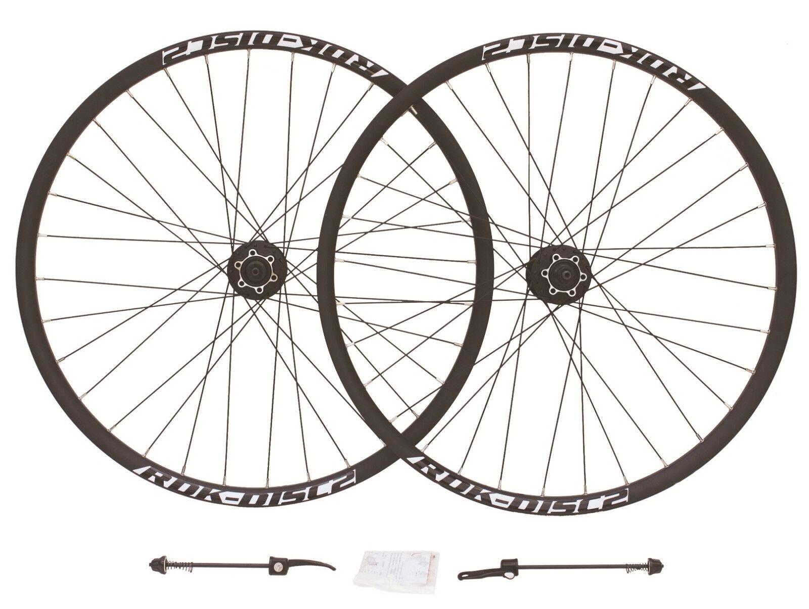 RDK DISC 2 Disc Wheels (PAIR) Shimano M525A Hubs 26  Mountain Bike 8 9 10 speed