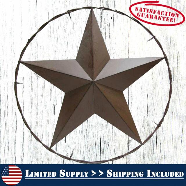 24 Americana Metal Star Decor For