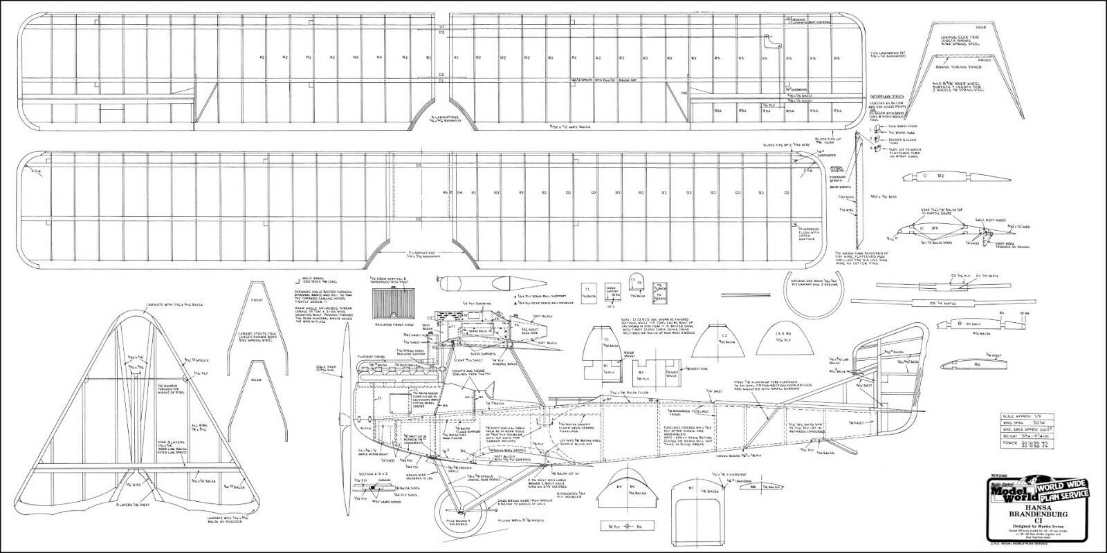 HANSA BRANDENBURG CJ, CJ, CJ, Erkundungsflugzeug. Modellbauplan fbb3de