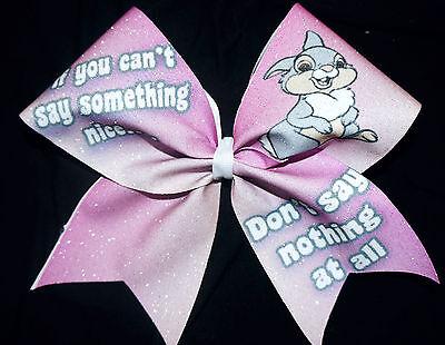 Cheer Bow - Thumper Bambie Pink Hair Bows