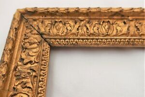 SM ANTIQUE FITS 7 X 9 GOLD PICTURE FRAME WOOD GESSO ORNATE FINE ART COUNTRY