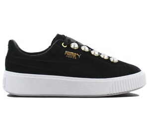 48c5a4bfbd5a Image is loading Puma-Suede-Platform-Bling-Ladies-Sneaker-Shoes-Leather-